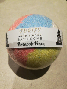 Bath Bomb Pineapples Peach