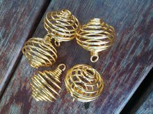 Load image into Gallery viewer, Spiral Cage Pendant Gold & Silver