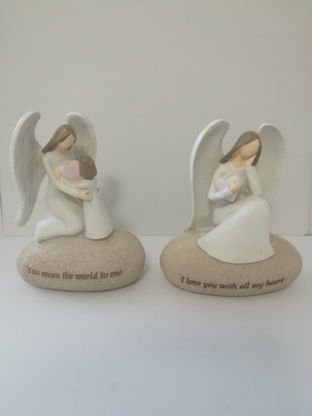Angel Inspirational on Rock set of two