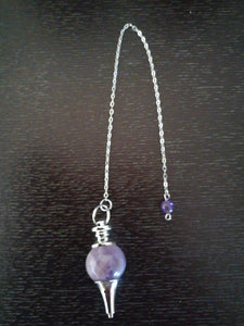 Amethyst Ball Point Pendulum