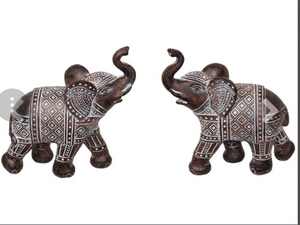 Elephant Boho Tribal 14 cm set of two