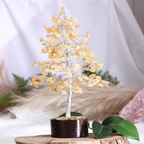 Yellow Aventurine Tree - Medium Silver