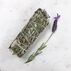 White Sage and Lavender Smudge
