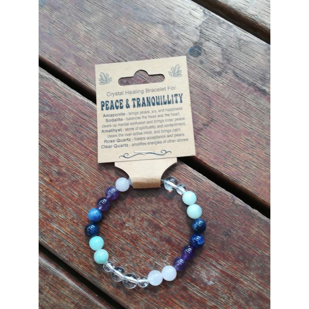 Crystal Healing Bracelet Peace & Tranquility - Crystal Healing Bracelet