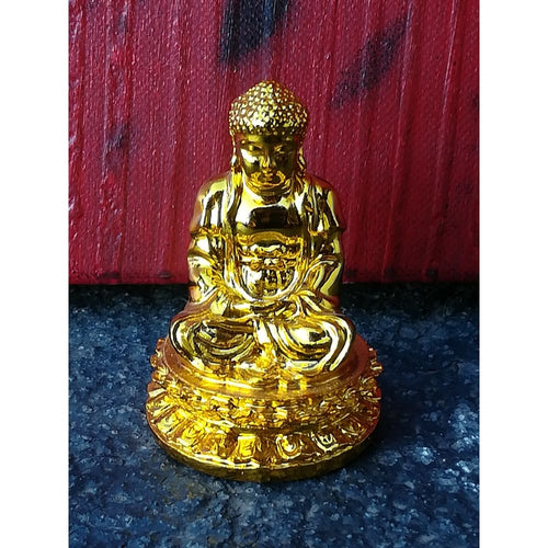 Meditation Buddha 60 Mm Shiny Gold - Statue