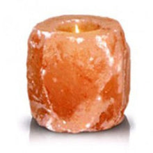 Load image into Gallery viewer, Natural Shaped Himalayan Salt Tea Light Candle Holder
