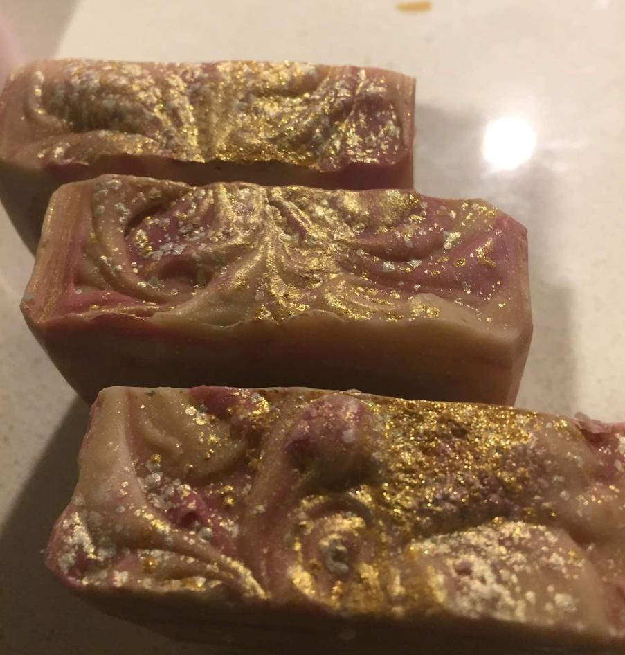 Goats Milk Soap Champagne and Strawberry