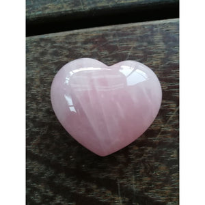 Rose Quartz Heart - gems and crystals