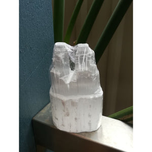 Selenite Twin Tower Small