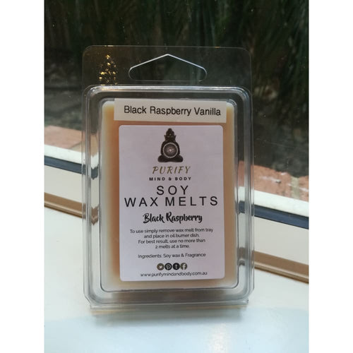 Soy wax melts square Black Raspberry Vanilla - wax melts