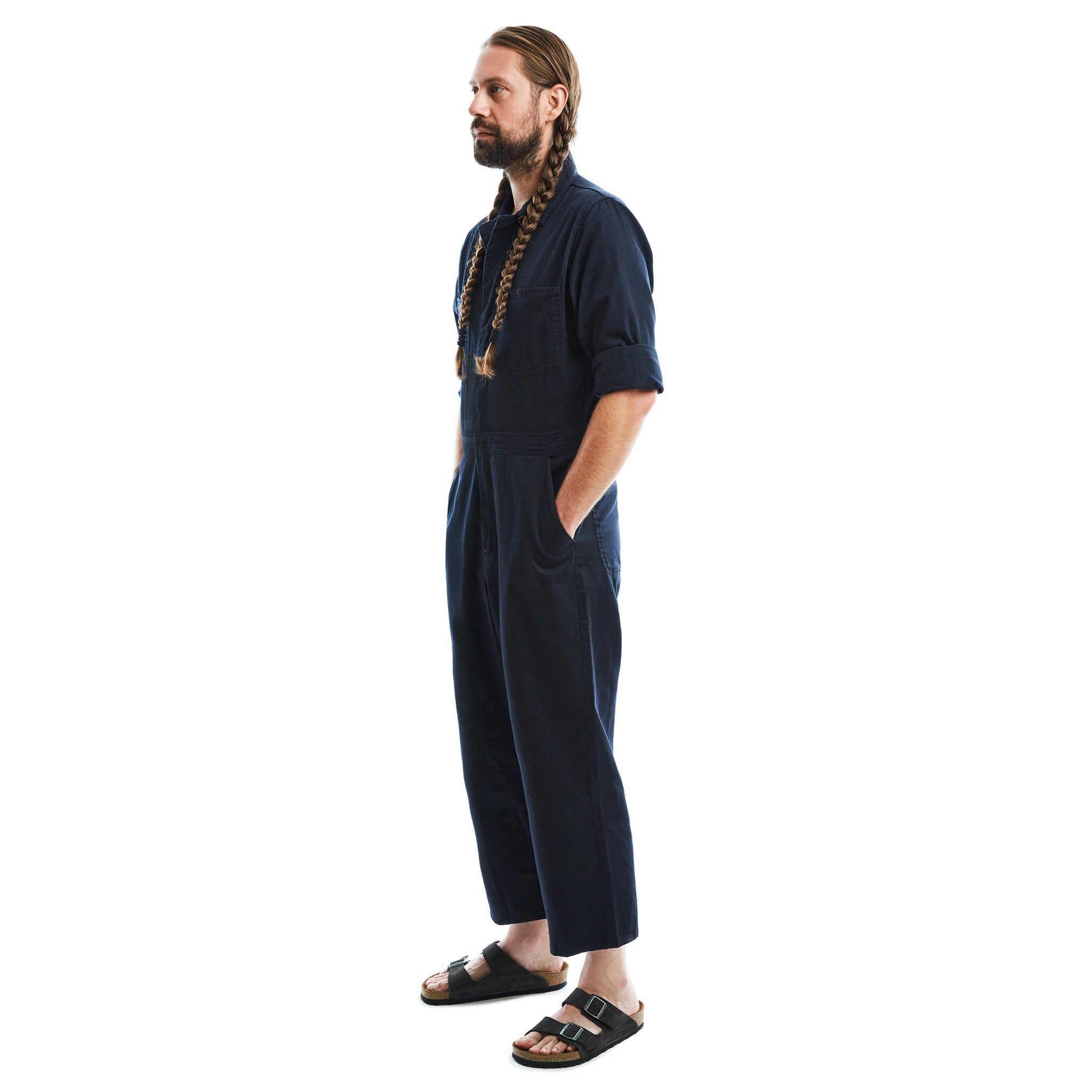 Lincoln unisex navy jumpsuit