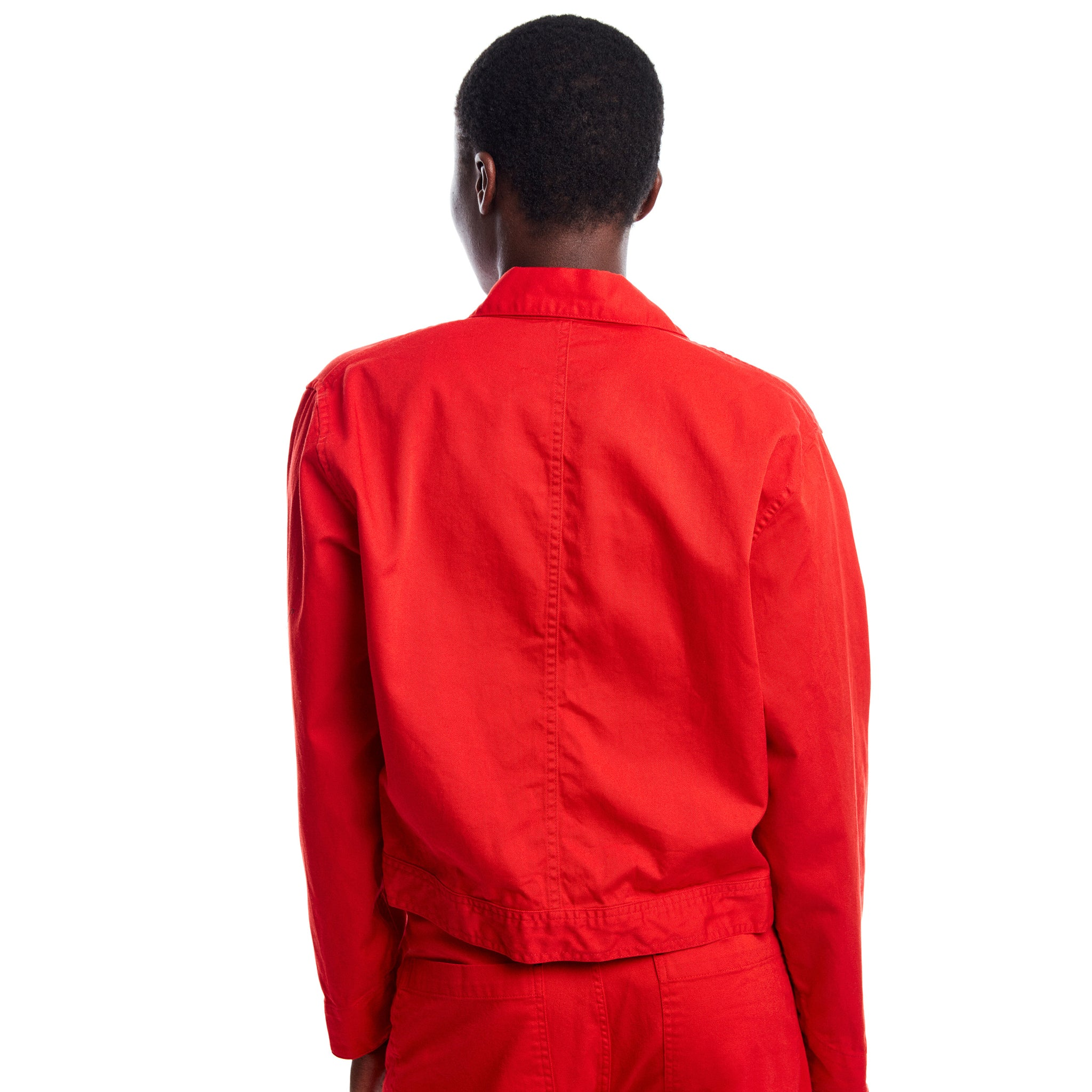 Short Red Snap Jacket