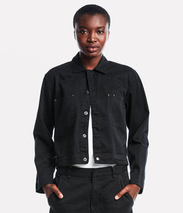Short Black Snap Jacket