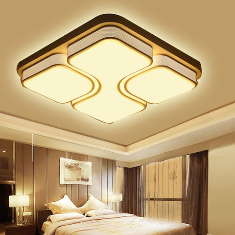 led deckenlampe modern dimmbar lampe ufo schwarz 48w 64w. Black Bedroom Furniture Sets. Home Design Ideas