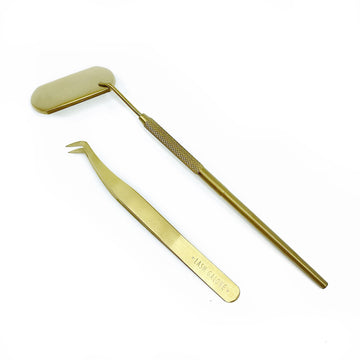 Gold Series | Precision Eyelash Tweezer & Mirror