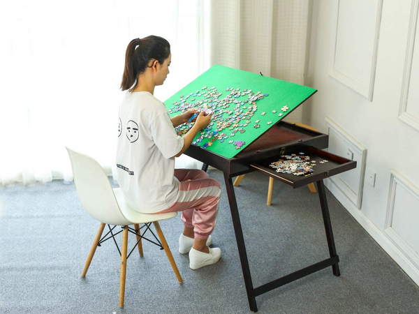 Wooden Jigsaw Puzzle Table