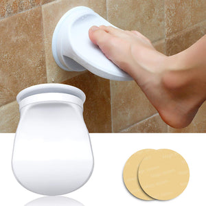 Shower Foot Rest Support for Shower, Wash Feet, No Drilling is Needed Non-Slip Bathroom Pedal with Powerful Suction Cup Shower Shaving Leg Aid. Suitable for Pregnant Women & Back Pain Sufferers