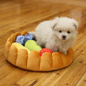 1 Set Cute Pet Dog Fruit Tart Bed