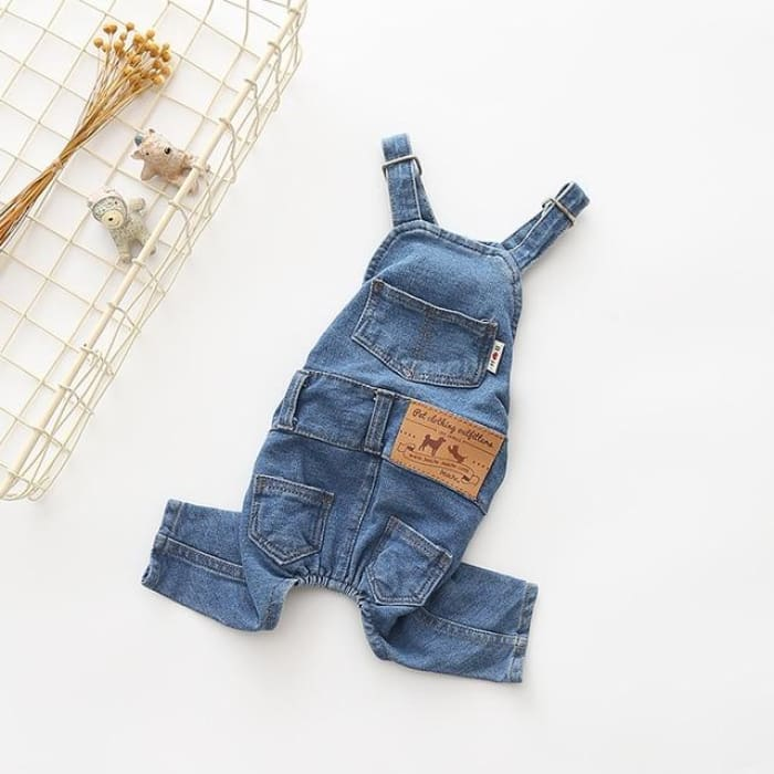 Denim Dog Coat Autumn - Blue / L