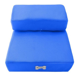 Dog Bed Cushion Mat Folding - Deep Blue / One Size