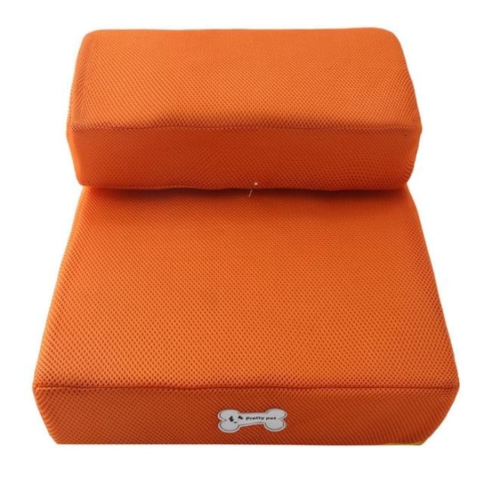 Dog Bed Cushion Mat Folding - Orange / One Size