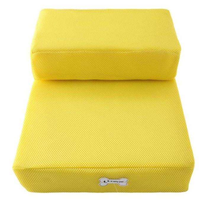Dog Bed Cushion Mat Folding - Yellow / One Size