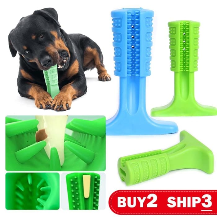 Dog Toys Tooth Brush Bite-Resistant