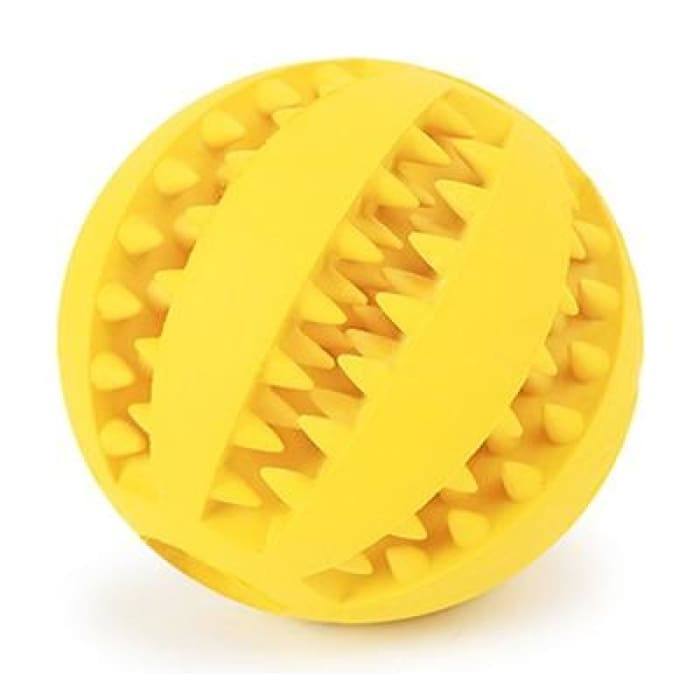 HELLOMOON Dog Toy Interactive Rubber Balls - Yellow / 5cm