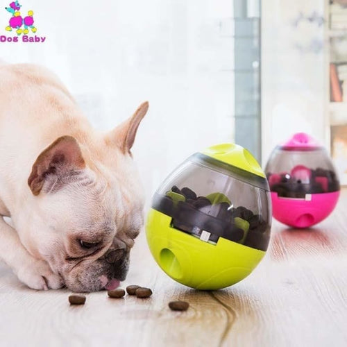 Interactive Dog Cat Food Treat Ball Bowl