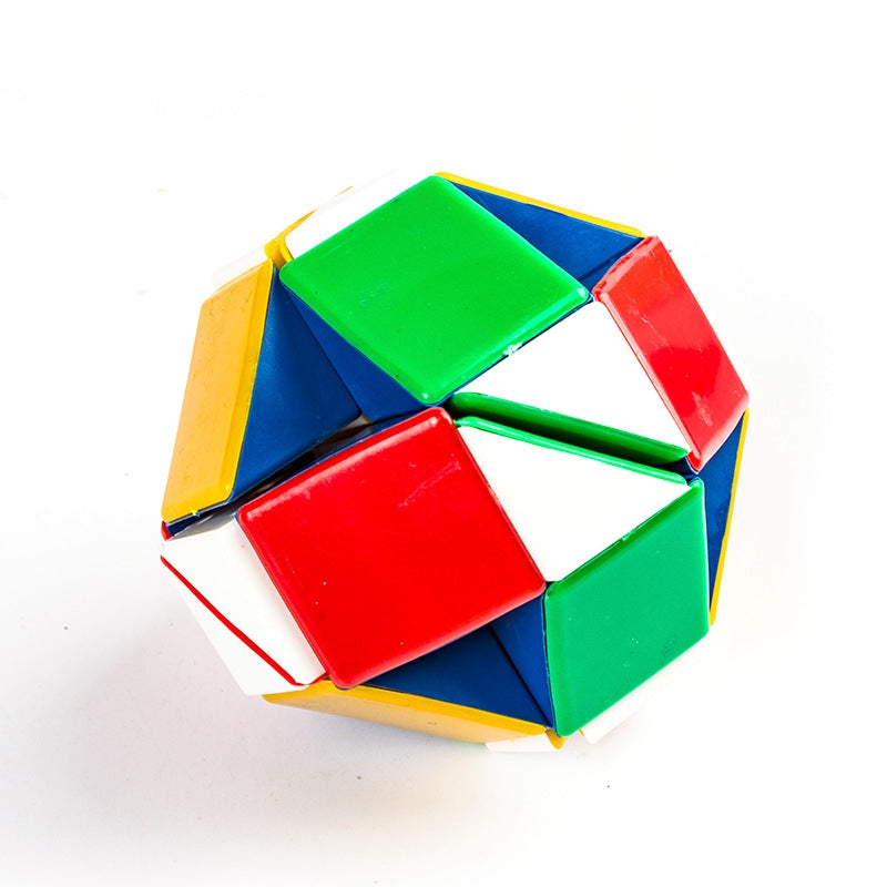 Colorful Magic Cube Puzzle Mirror Intelligence Game Kids Toy