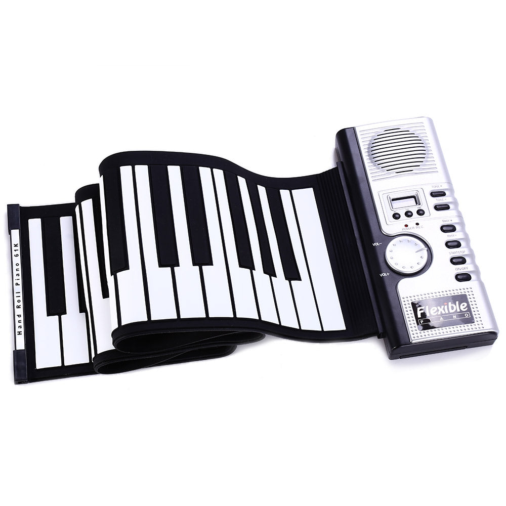 Flexible 61 Keys Soft Portable Electric Digital Roll-up Keyboard Piano
