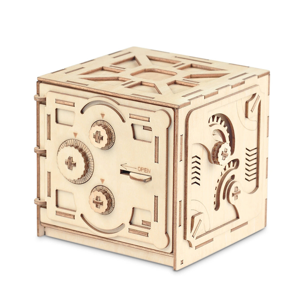 Wooden Mechanical Model 3D Puzzle Password Locker