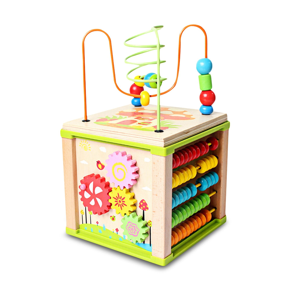 Learning Bead Maze Activity Cube Educational Toy