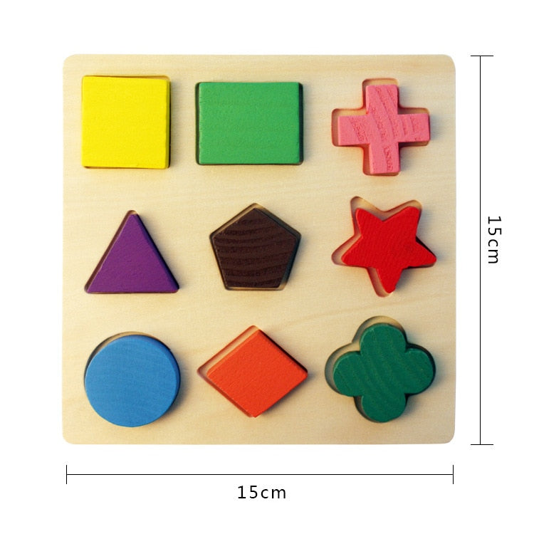 Wooden Toys Children's Puzzle 3D