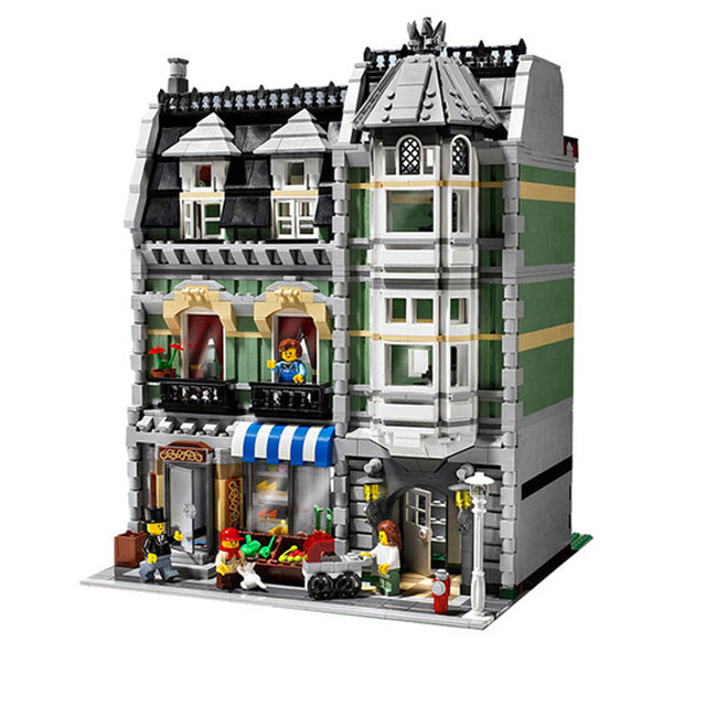 Lepin City Street Green Grocer Model