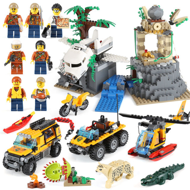 Lepin The Jungle Exploration Site Set