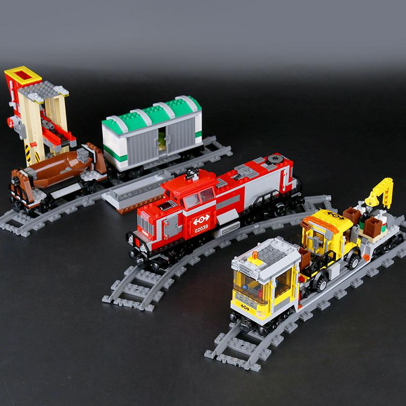 Lepin The Red Cargo Train Set