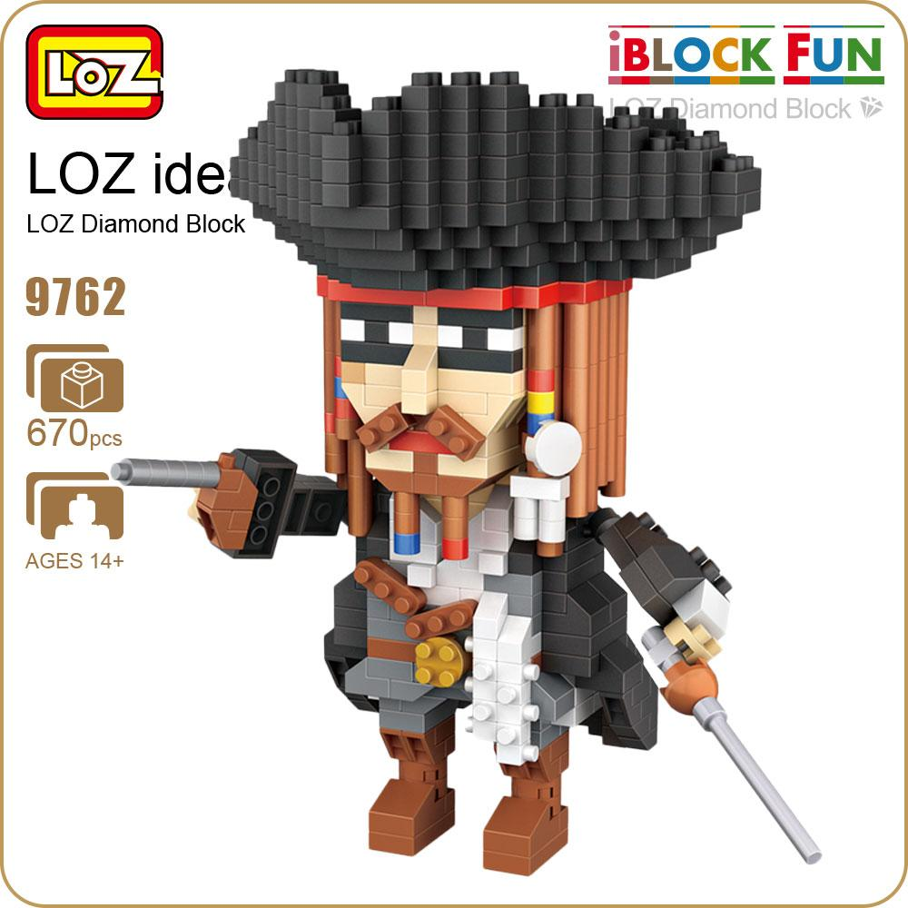 LOZ Diamond Building Blocks Captain Pirates Figure