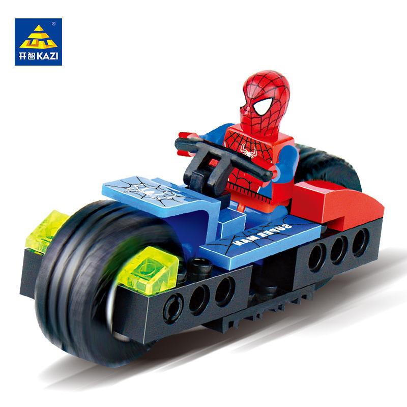 KAZI Building Blocks Spider Superman Toys