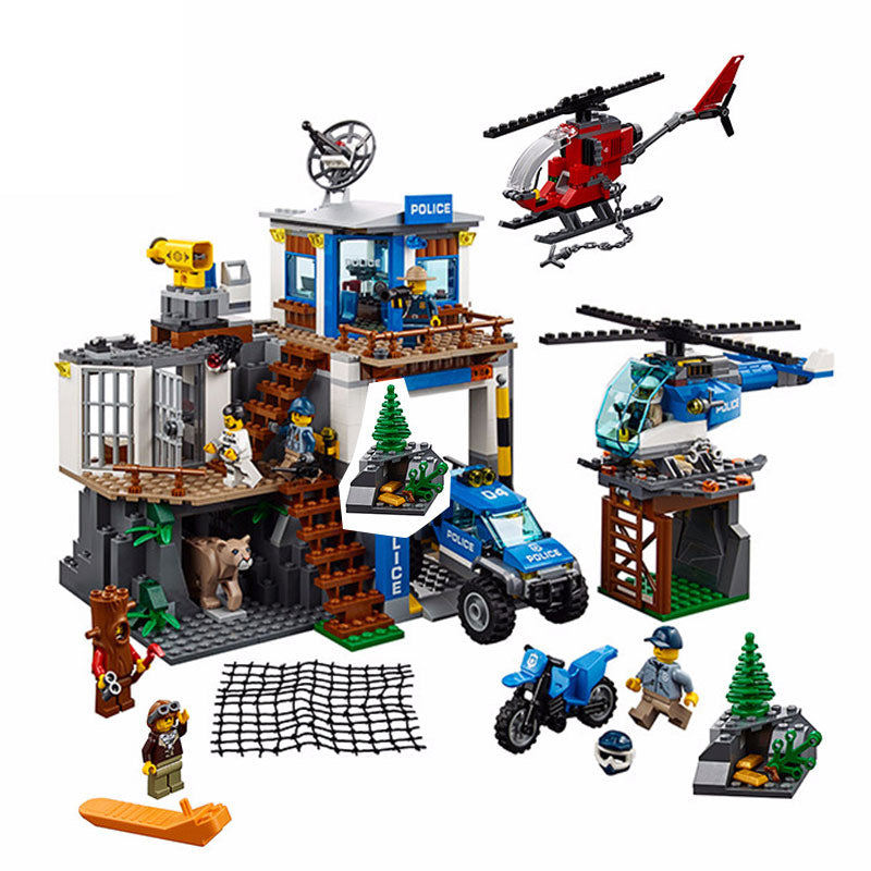 Lepin The Mountain Police Headquater Set