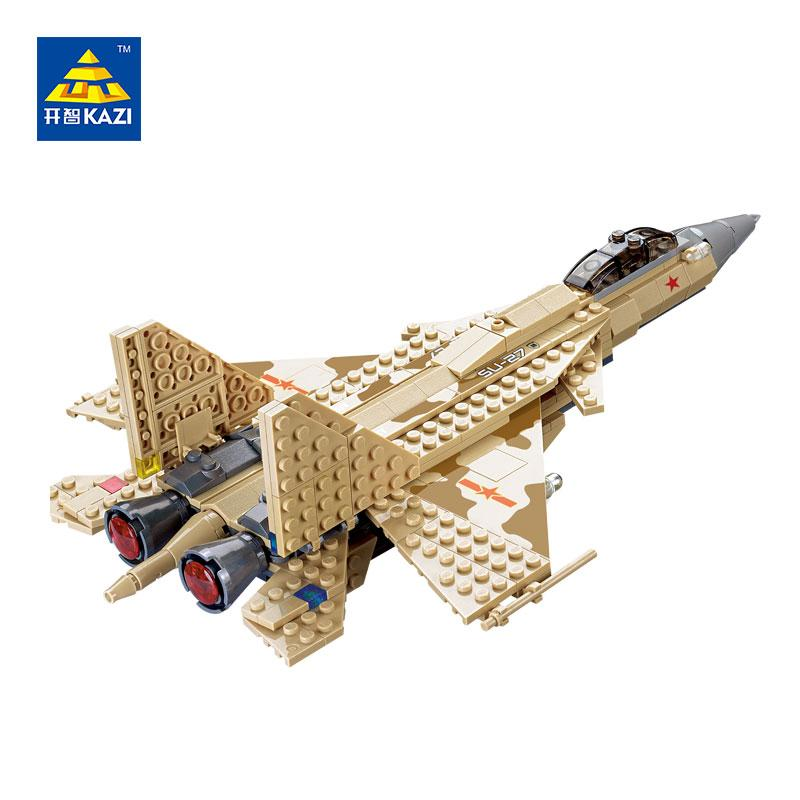KAZI Sukhoi Flanker Fighter Toys Bricks Military Sets