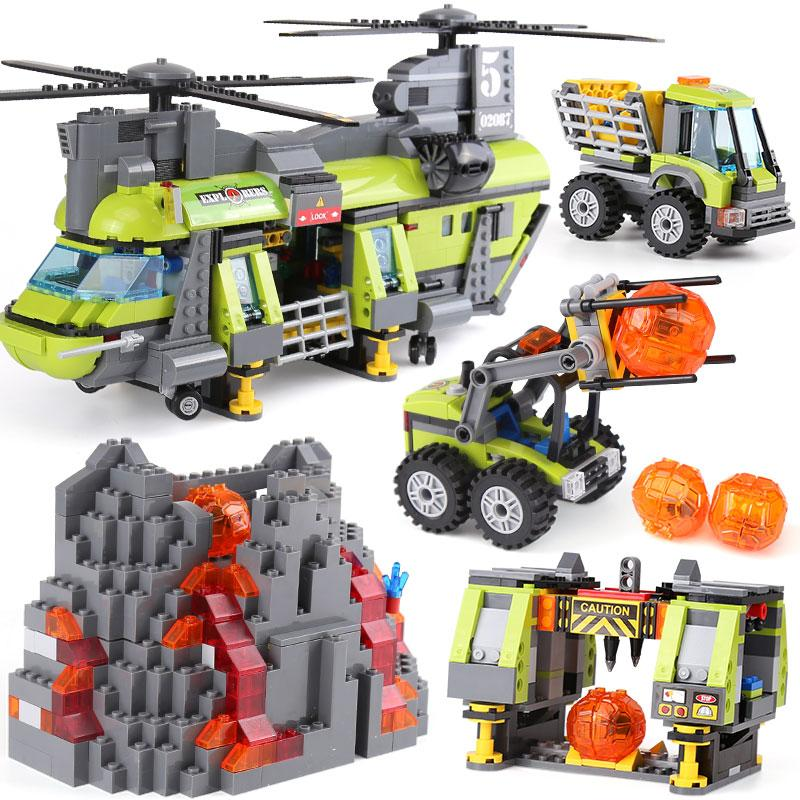 Lepin The Volcano Heavy-Lift Helicopter Set