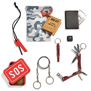 SOS Emergency Kit in a Tin 20-Piece/6 Tools