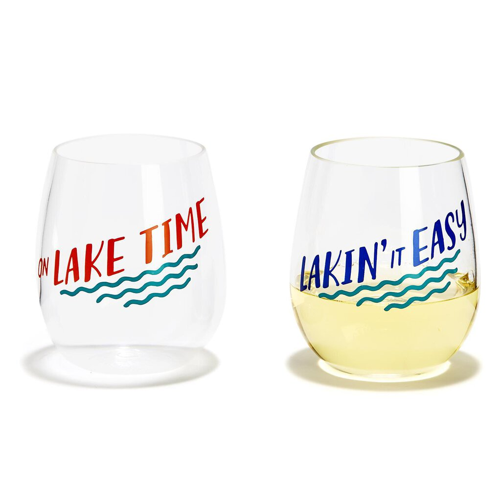 Lake Life Set of 2 Stemless Glass