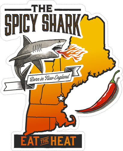 The Spicy Shark Sticker