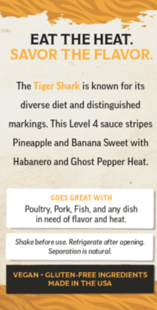 Hot Spicy Tiger Shark Craft Hot Sauce | The Spicy Shark