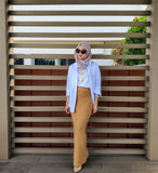 Knited Pencil Skirt ( Camel)