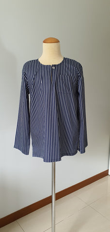 Boys Anas Kurta in Navy Blue Stripe
