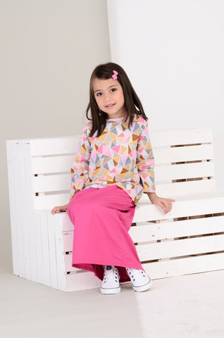 Girls Nabila Kurung in Pink