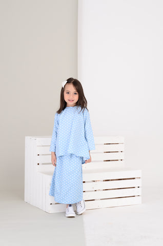 Girls Nabila Kurung in Polka Dot
